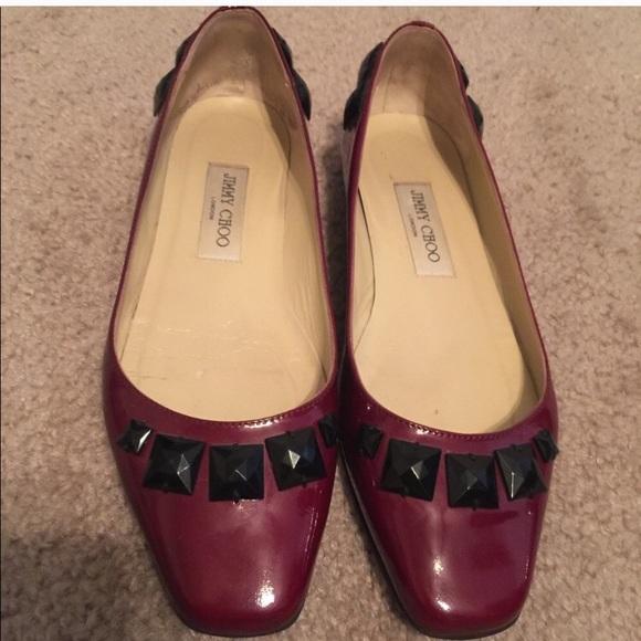 063bc78d3d47 Jimmy Choo Shoes - 👠 Jimmy Choo Red Flats NWOT